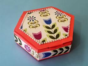 怎么做糖果礼盒的方法 卡纸制作六角礼品盒