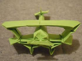 怎么折纸双翼飞机图解 手工多翼飞机的折法