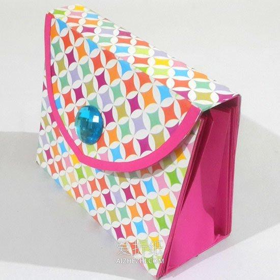 一张纸手工折纸钱包怎么做