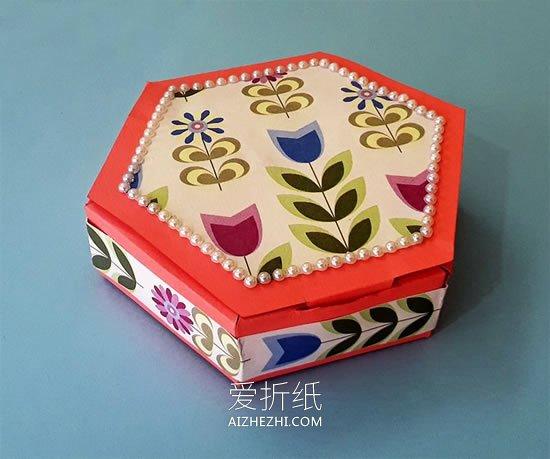 怎么做糖果礼盒的方法 卡纸制作六角礼品盒_爱折纸网 最新折纸方法