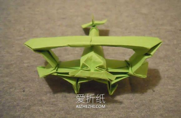 怎么折纸双翼飞机图解 手工多翼飞机的折法_爱折纸网 最新折纸方法