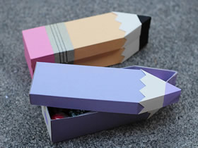 怎么做创意教师节礼品盒 卡纸制作铅笔礼盒方法