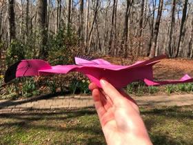 怎么做火烈鸟纸飞机 卡纸制作可以飞的火烈鸟