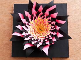 怎么做3D爆炸效果纸花 手工复杂纸花雕塑制作