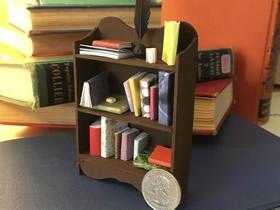 怎么做迷你书柜的方法 木板手工制作书柜模型
