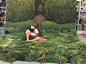 怎么做有创意羊毛毯 旧地毯废物利用制作图片