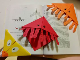 怎么折纸小动物书签的折法图解教程