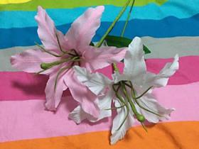 怎么做皱纹纸百合花 简单手工制作六瓣百合