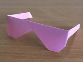 怎么折纸太阳镜图解 手工简单太阳镜的折法