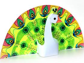 怎么做立体孔雀的方法 卡纸手工制作孔雀教程