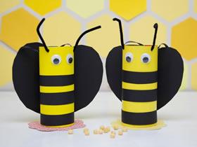 怎么简单做小蜜蜂收纳盒 废纸盒制作卡通蜜蜂