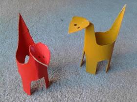 怎么用卫生纸纸卷做恐龙 卷纸芯制作恐龙方法