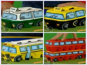 怎么把鸡蛋托废物利用 制作出租车和双层巴士