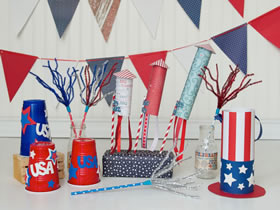 怎么做国庆节装饰品 儿童美国国庆节手工制作