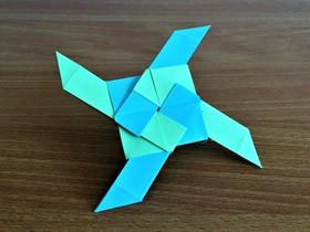 怎么折纸忍者之星飞镖 四角忍者飞镖折法图解