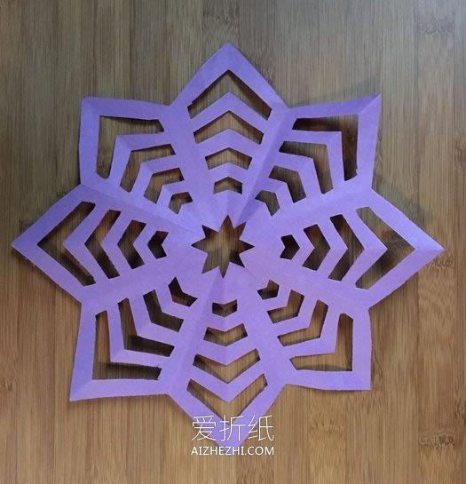 怎么剪纸雪花的折法和剪法步骤图解- www.aizhezhi.com