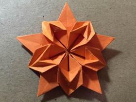 怎么手工折纸樱花星的折法图解教程