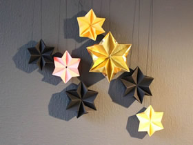 怎么折纸圣诞节圣诞星挂饰的制作方法图解