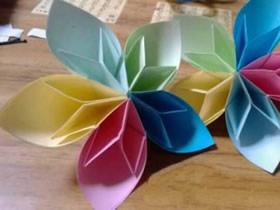 怎么简单手工折纸立体五瓣花的方法图解