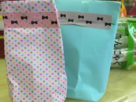 怎么简单折纸礼品包装纸袋的折法图解教程