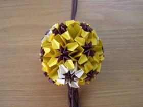 怎么手工折纸球体花球的折法图解