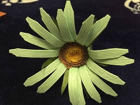 怎么简单做纸藤野菊花的方法图解教程