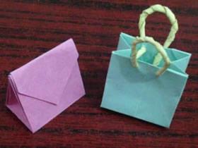 怎么折纸手提袋的折法步骤图解