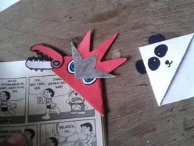 怎么用卡纸制作卡通书签 宝可梦里的巨钳螳螂