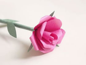 怎么做手揉纸玫瑰花的方法图解教程