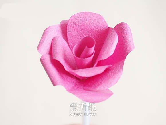 怎样用纸做玫瑰花_怎么做手揉纸玫瑰花的方法图解教程_爱折纸网