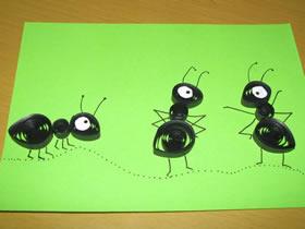 怎么简单做衍纸蚂蚁的手工教程图解