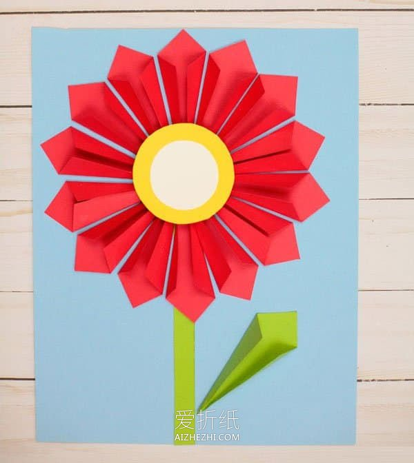怎么简单做教师节立体花朵贺卡的方法图解- www.aizhezhi.com