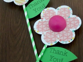 怎么做可爱又有创意的教师节花朵贺卡图解