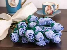 怎么用不织布手工制作布玫瑰花的方法图解