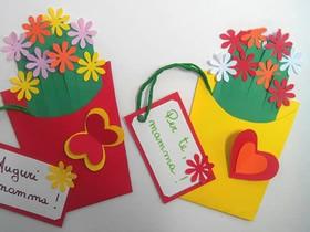 怎么做母亲节花丛贺卡的方法简单又漂亮