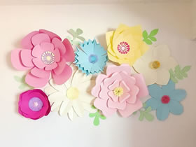 怎么做漂亮的墙饰 8种漂亮纸花手工制作图解
