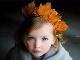 怎么用秋天枫叶手工制作皇冠头饰的方法