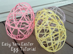 怎么用绳子制作复活节彩蛋的方法教程