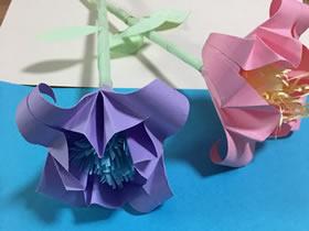 怎么折纸带花蕊完整百合花的折法图解过程