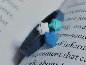 怎么手工折纸制作幸运星戒指的方法图解