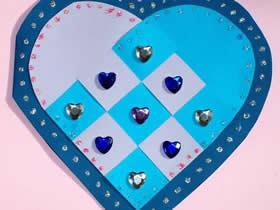 怎么手工制作母亲节编织爱心卡片的方法图解