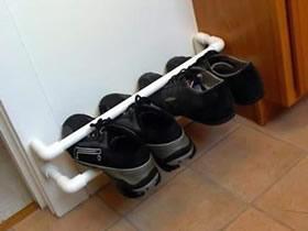 怎么用PVC塑料管制作简易鞋架的教程