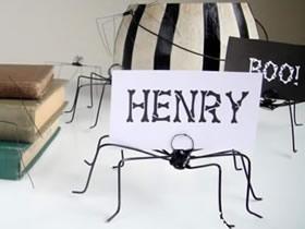 怎么用铁丝手工制作蜘蛛留言便签夹的方法