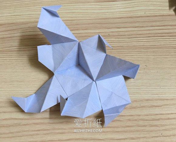怎么手工折纸五角星花球的折法步骤图解- www.aizhezhi.com