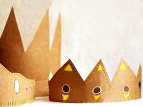 幼儿怎么用硬纸板制作皇冠的方法教程