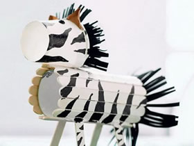 幼儿园怎么废物利用手工制作小马的方法教程