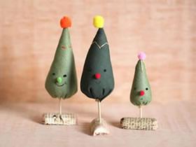 怎么做迷你圣诞树装饰品的手工制作教程