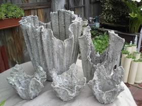 怎么用水泥改造旧毛巾 手工制作创意花盆教程