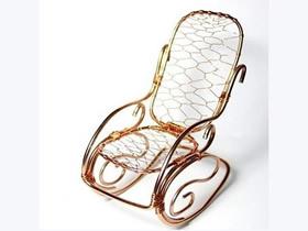 怎么做迷你金属丝摇摇椅工艺品的手工制作教程