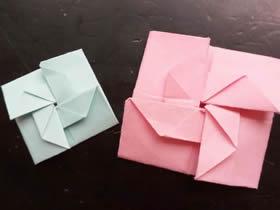 怎么简单折纸风车杯垫的折法图解教程